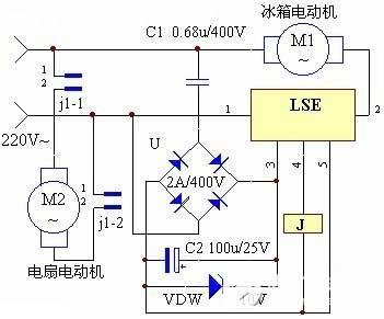 Yaxun design air-cooled synchronous temperature control circuit diagram